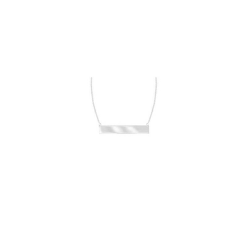 Lasker Gold Fashion 14Kt Gold Bar Necklace