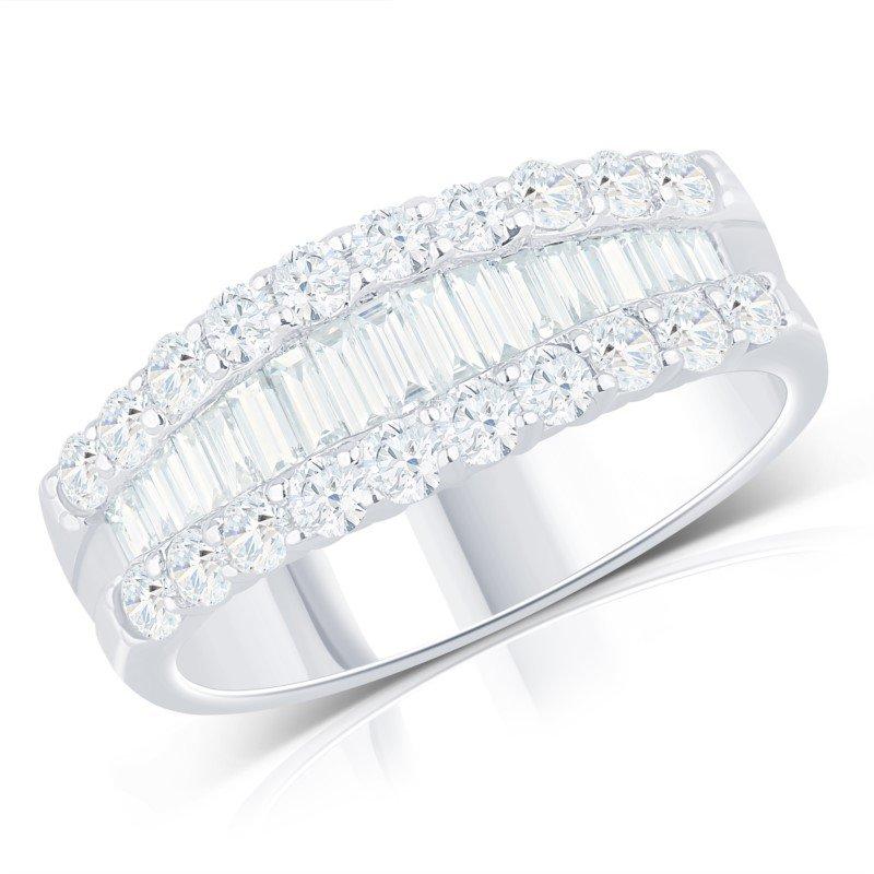 Lasker Diamond Fashion Baguette and Round Diamond Band - 1.80cttw