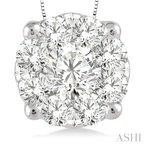 Lasker Diamond Fashion Lovebright Diamond Pendant - 1CTTW