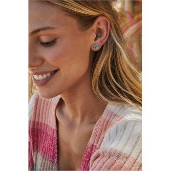 Kendra Scott Mallory Stud Earring Gold Plum Opal