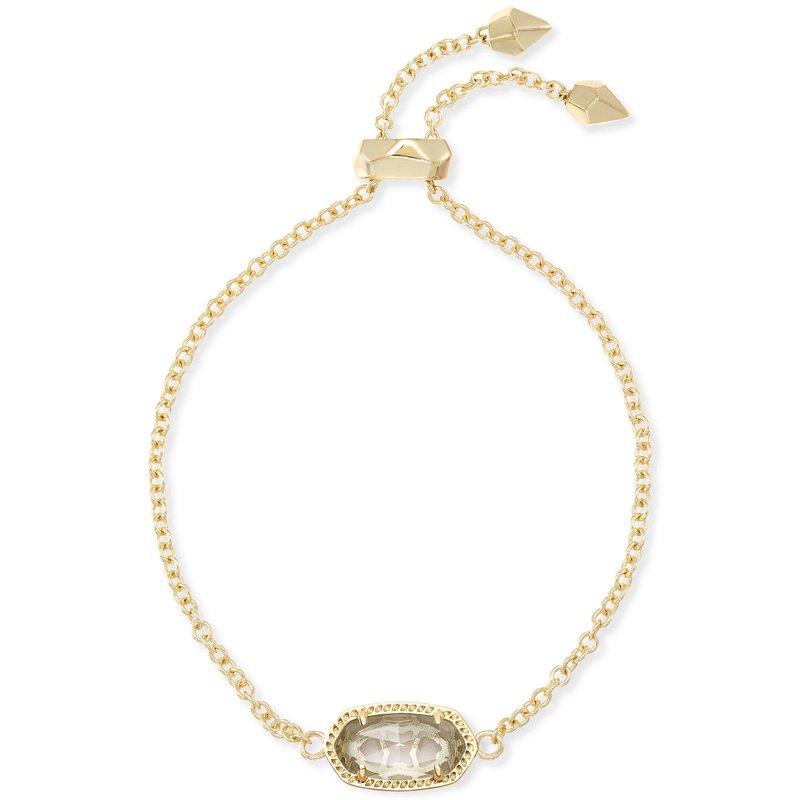 Kendra Scott Elaina Adjustable Chain Bracelet In Clear Crystal