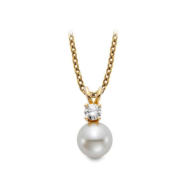 Lasker Pearl Fashion Freshwater Pearl & Diamond Pendant