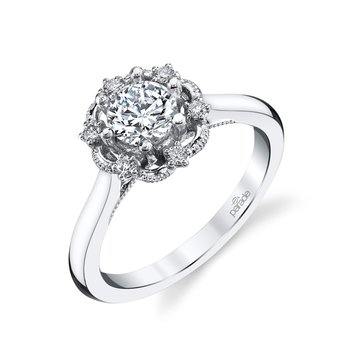 Picture Frame Halo Ring - .71ct Center Diamond