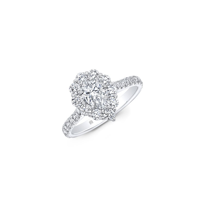 Forevermark Pear Halo Engagement Ring