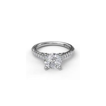 Fana White Gold Engagement Ring Setting