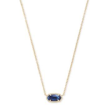 Elisa Necklace Gold with Cobalt Howlite