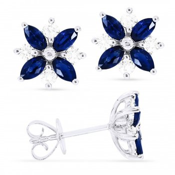 Flower Power Sapphire Earrings