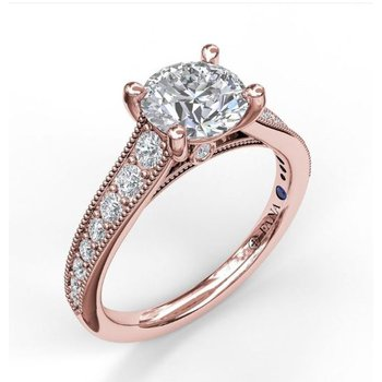 Classic Rose Gold Engagement Ring Mounting