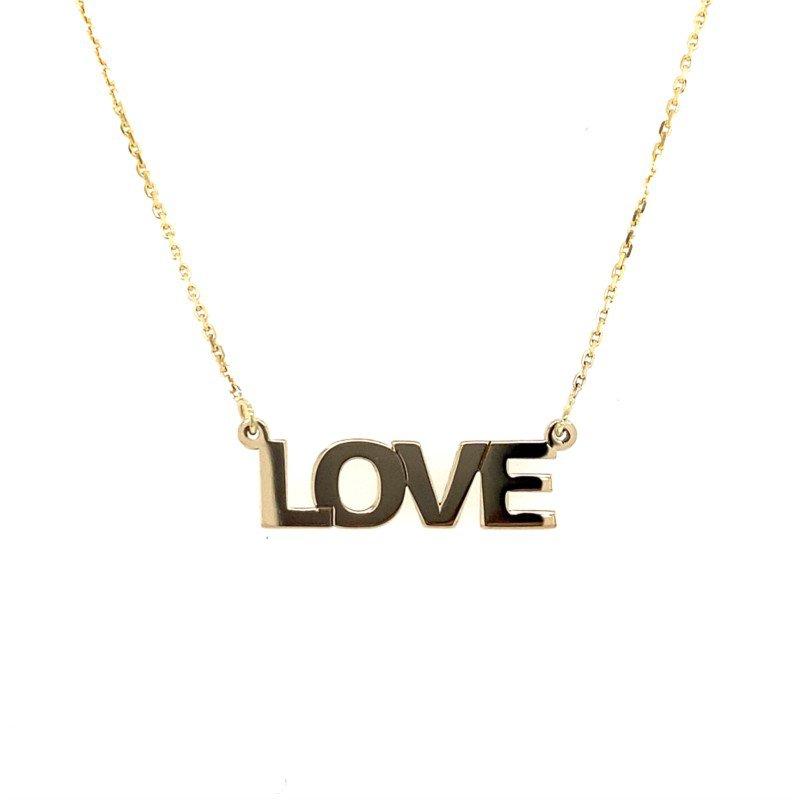 Lasker Gold Fashion Love Necklace