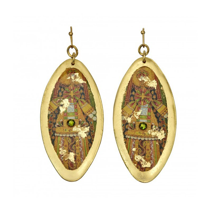 Evocateur Raina Dress Oblong Drop Earrings