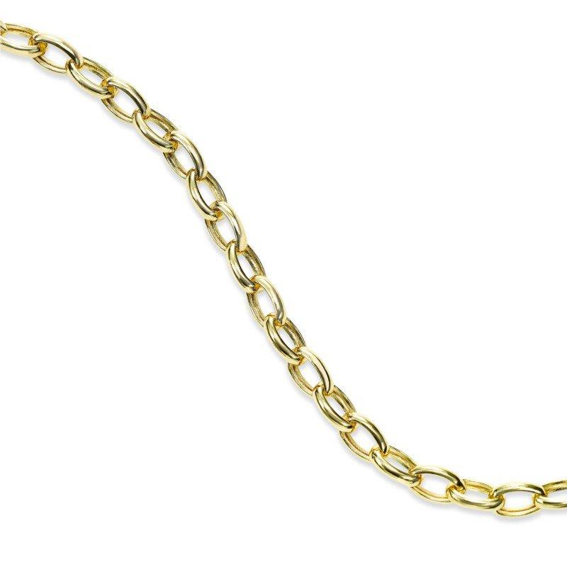 Lasker Gold Fashion Oval Link Bracelet