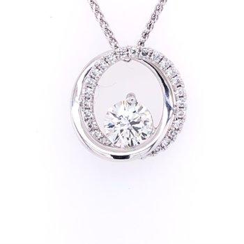 You & Me Pendant - .50ct Round Diamond
