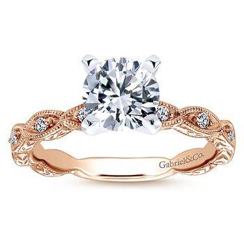 Sadie Rose Gold Ring Mounting