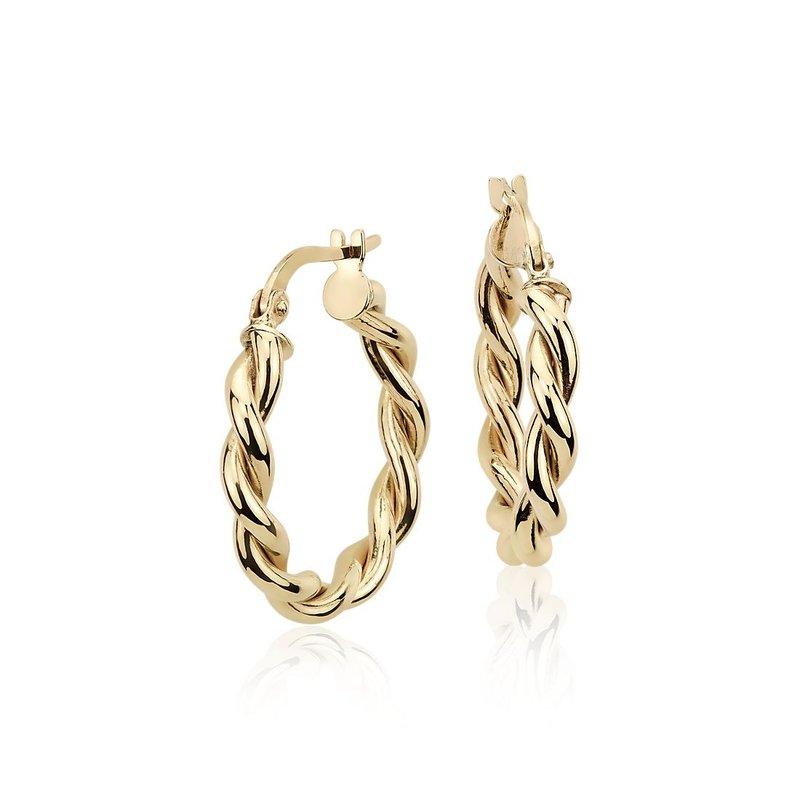 Lasker Gold Fashion Braided Hoop Earrings
