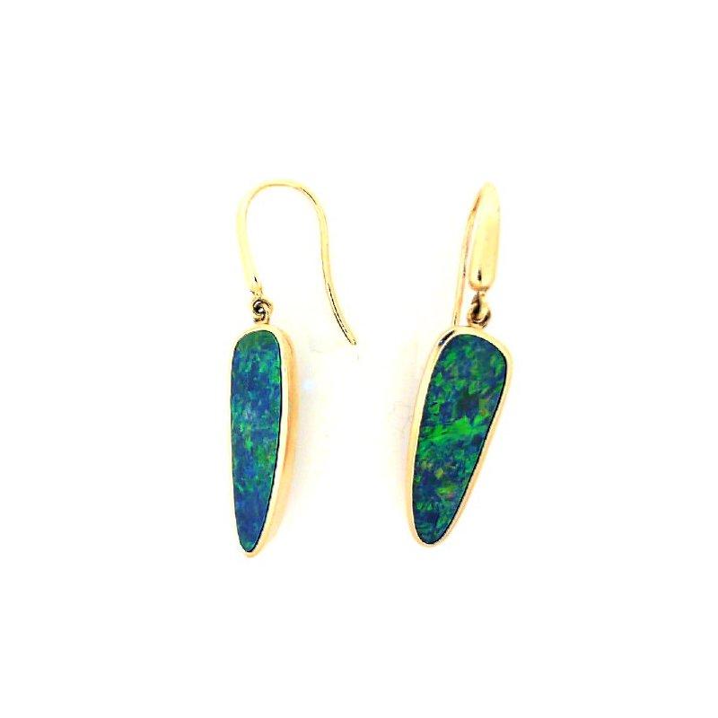 Lasker Gemstone Opal Doublet Earrings