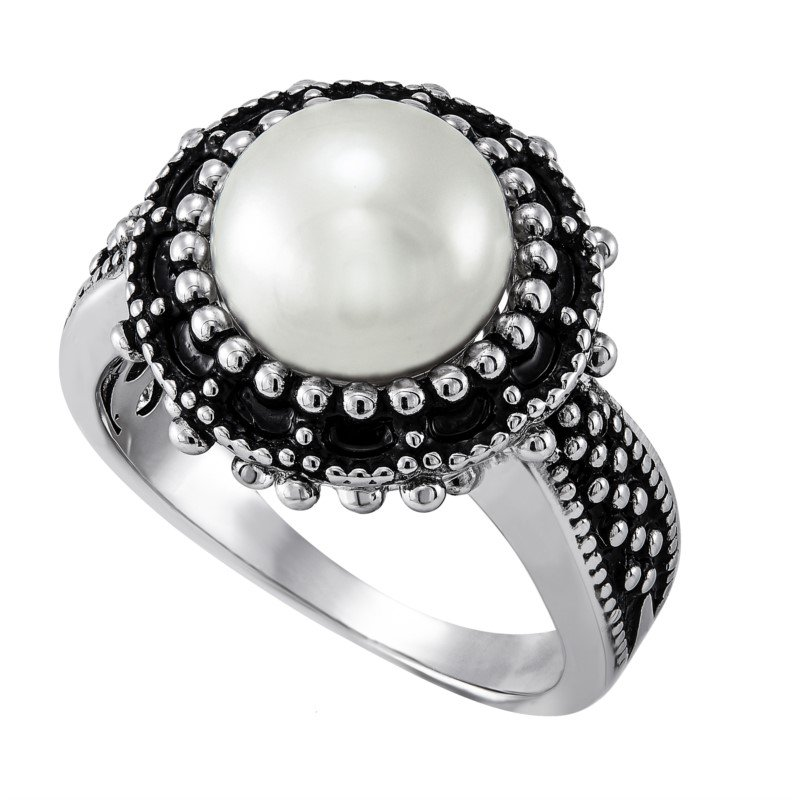 Lasker Pearl Fashion Button Pearl Ring