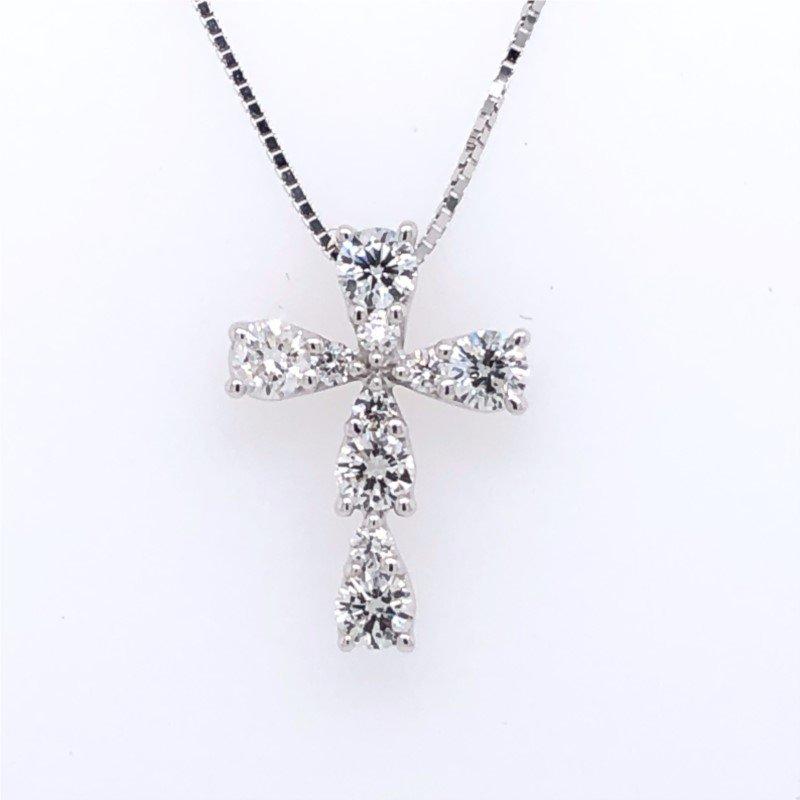 Lasker Diamond Fashion Raindrop Diamond Cross Pendant