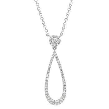 Open Teardrop Diamond Pendant