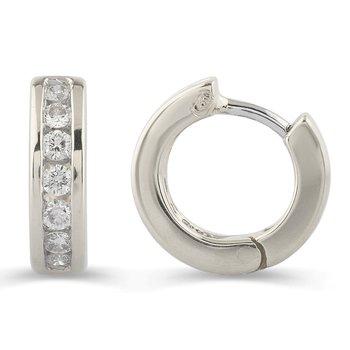 Channel Set Diamond Huggies