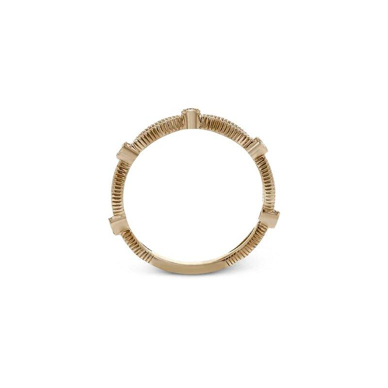 Simon G Diamond Stacking Ring