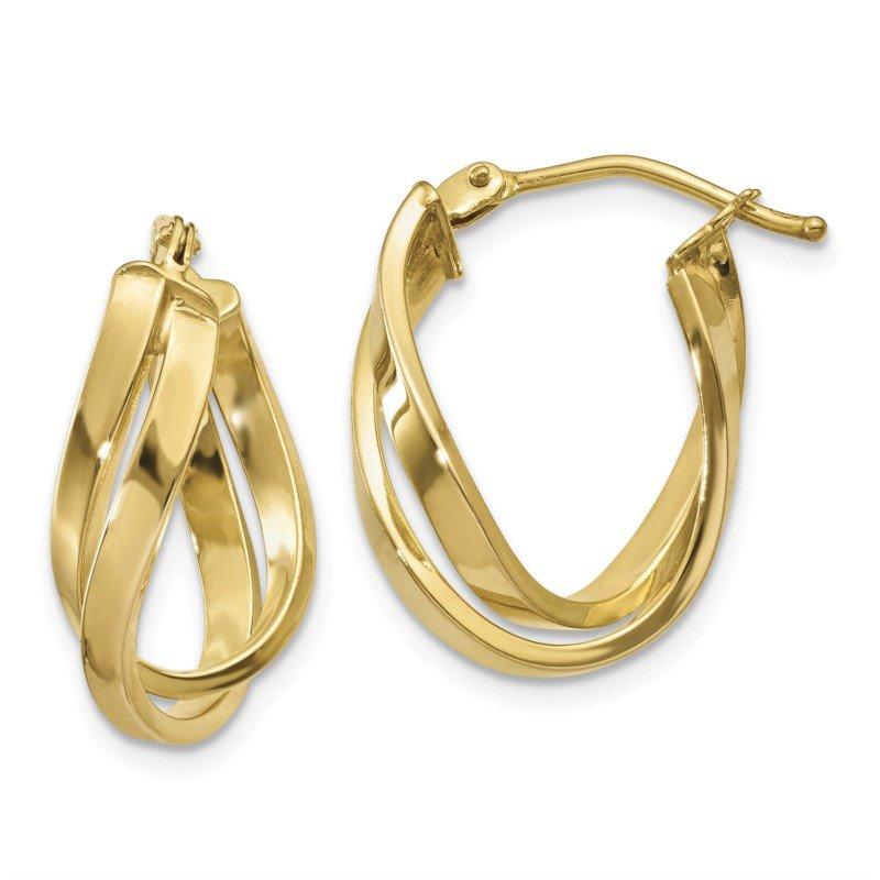 Lasker Gold Fashion Twisted Double Loop Hoop Earrings
