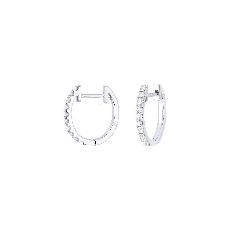 Lasker Diamond Fashion Diamond Hoops .33cttw