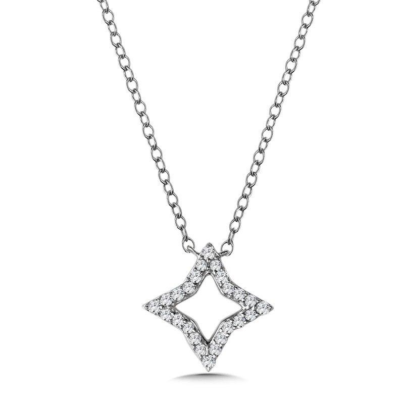 Lasker Gold Fashion 14kt White Gold North Star Pendant