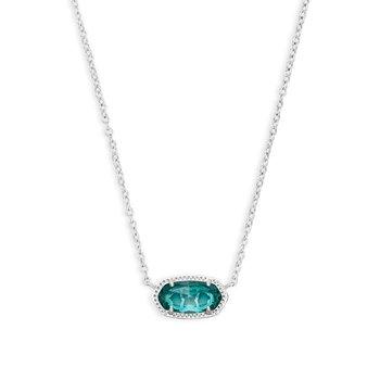 Elisa Silver Pendant Necklace In London Blue