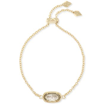 Elaina Adjustable Chain Bracelet In Clear Crystal