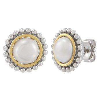 Pearl Palline' Button Studs