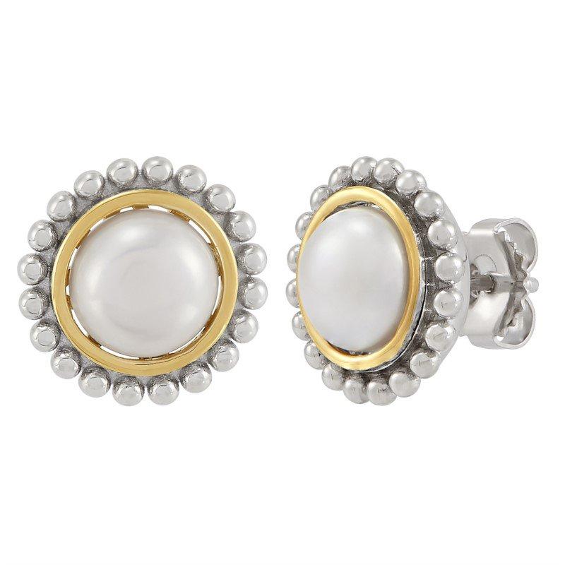 Lasker Pearl Fashion Pearl Palline' Button Studs