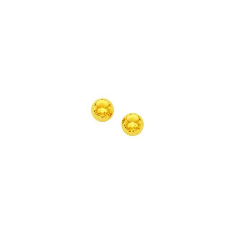 Lasker Gold Fashion 6mm Ball Stud Earring