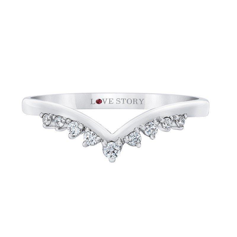 Lasker Bridal Tiara Collection Curved Diamond Band