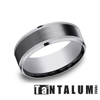 8mm Tantalum & Titanium Band