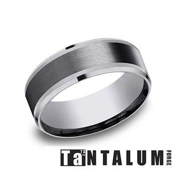 8mm Tantalum & Titanium Band