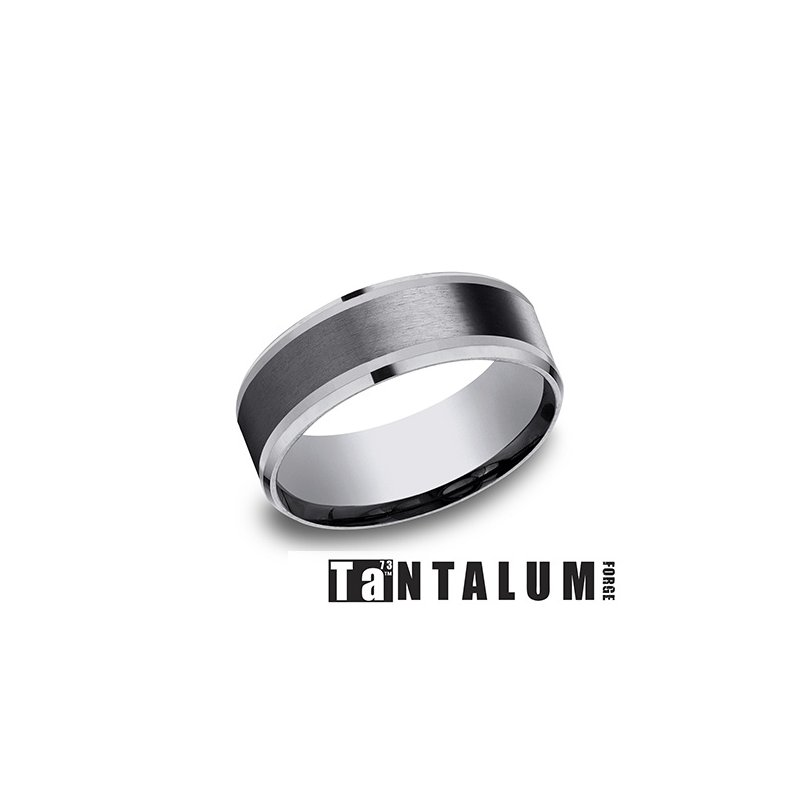 Lasker Men's 8mm Tantalum & Titanium Band
