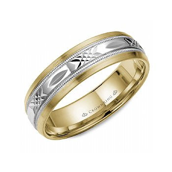 Arrow Patterned Wedding Band