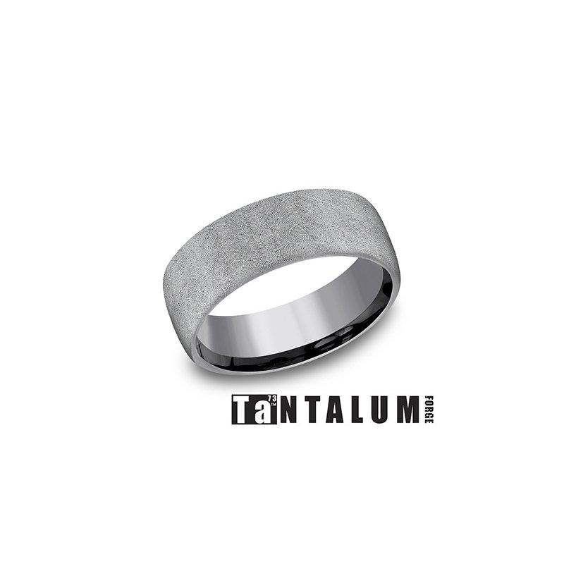 Lasker Men's 8MM Tantalum Grey Band