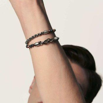 Asli Classic Chain Link Wrap Bracelet with Hematite