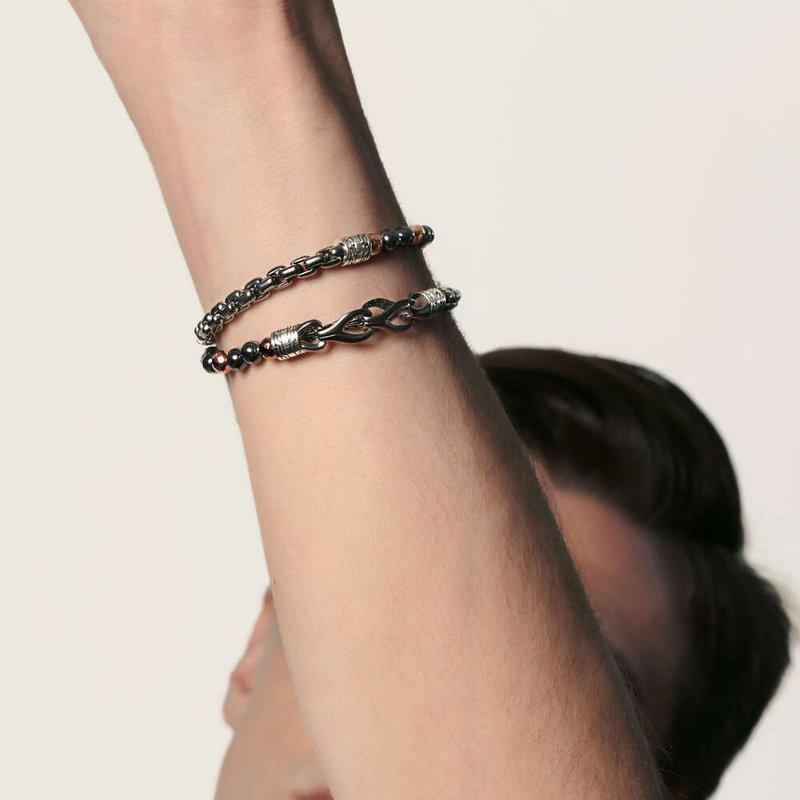 JOHN HARDY Asli Classic Chain Link Wrap Bracelet with Hematite