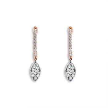 Marquise Dangle Diamond Earrings