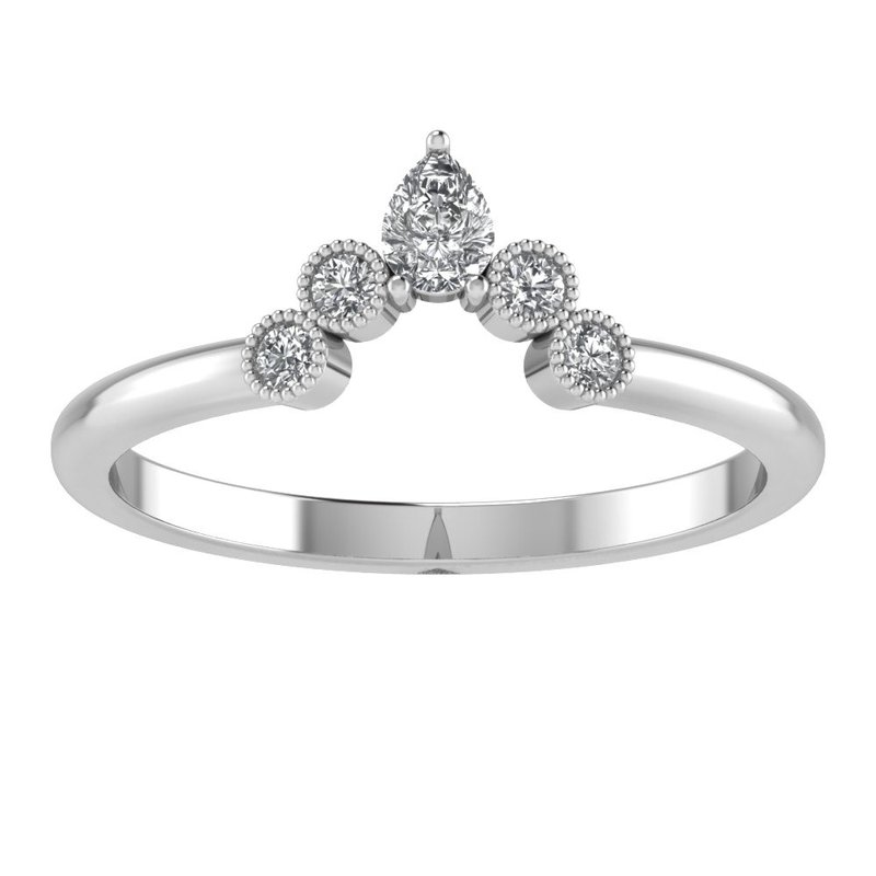Lasker Bridal Queen Elizabeth Crown Band