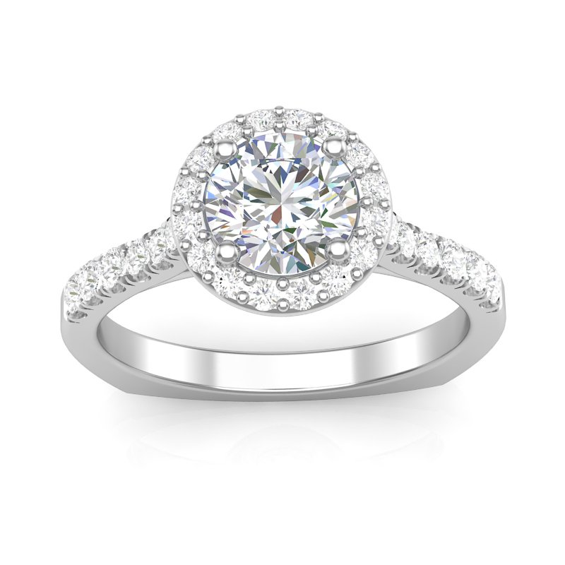 Lasker Bridal Round Halo Engagement Ring Mounting
