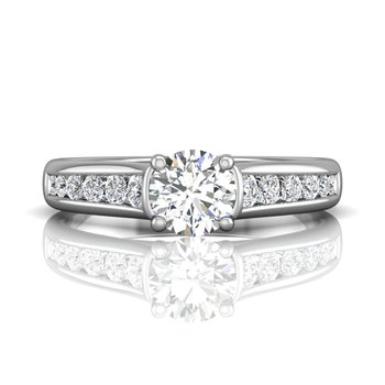 Channel Set Diamond Engagement Ring Mounting