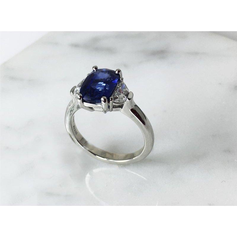 Lasker Gemstone Sapphire Three Stone Ring