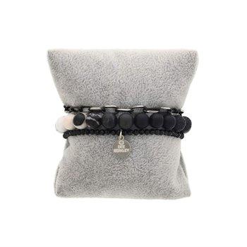 Lava Stone Ombre Bracelet Stack