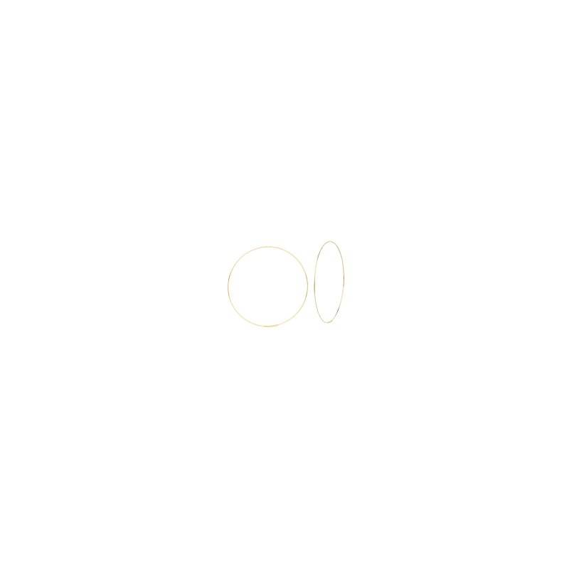 Lasker Gold Fashion 40mm Endless Hoop Earrings