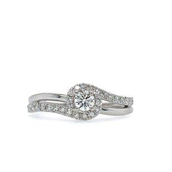 Swirl Diamond Ring