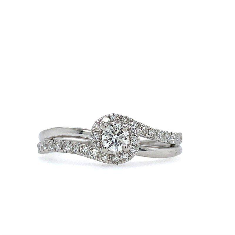 Lasker Bridal Swirl Diamond Ring