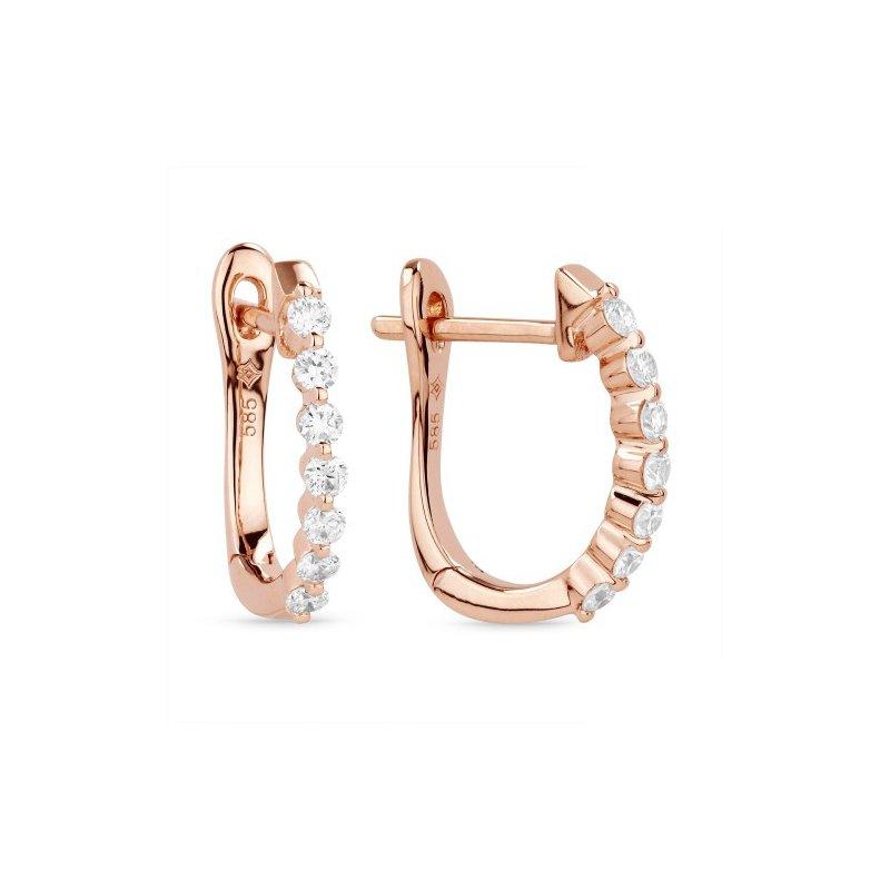 Lasker Diamond Fashion Single Prong Set Diamond Hoops